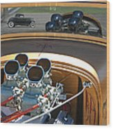 '29 Ford With '32 Ford Reflection Wood Print