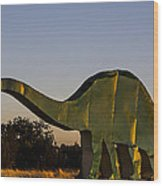 2d Brontosaurus Wood Print