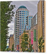 2nd Avenue - Seattle Washington Wood Print