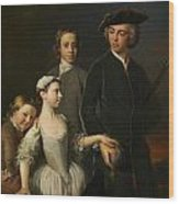 2nd Baron Mansel Of Margam With His Blackwood Half-brothers And Sister  Wood Print