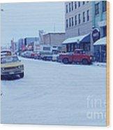 2nd Street Fairbanks Alaska 1969 Wood Print