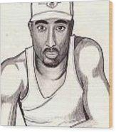 2pac Shakur Wood Print