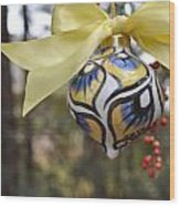 Majolica Maiolica Ornament Wood Print by Amanda  Sanford