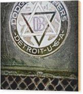 1923 Dodge Brothers Depot Hack Emblem Wood Print