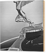 1932 Auburn 12-160 Speedster Hood Ornament Wood Print