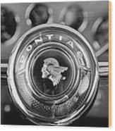 1933 Pontiac Steering Wheel Emblem Wood Print