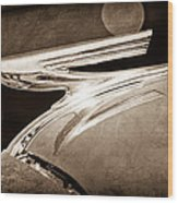 1937 Chevrolet Hood Ornament Wood Print