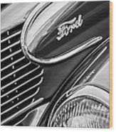 1939 Ford Woody Wagon Side Emblem Wood Print
