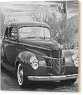 1940 Ford Deluxe Coupe Wood Print