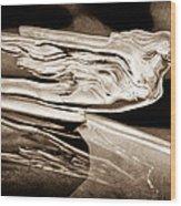 1941 Cadillac Hood Ornament Wood Print