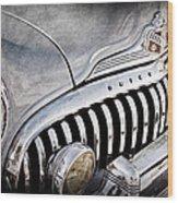1947 Buick Eight Super Grille Emblem Wood Print