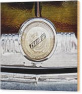 1949 Chrysler Windsor Grille Emblem Wood Print