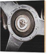 1951 Jaguar Steering Wheel Emblem Wood Print