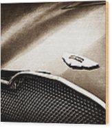 1953 Aston Martin Db2-4 Bertone Roadster Hood Emblem Wood Print