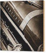 1955 Pontiac Star Chief Grille Emblem - Hood Ornament Wood Print