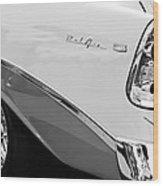 1956 Chevrolet Belair Nomad Taillight Emblem Wood Print