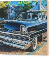 1956 Lincoln Premiere Convertible Painted  Wood Print