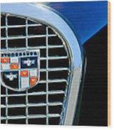 1956 Studebaker Golden Hawk Emblem Wood Print