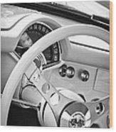 1957 Chevrolet Corvette Steering Wheel Emblem Wood Print