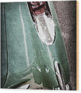 1957 Chevrolet Corvette Taillight Wood Print