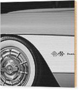 1957 Chevrolet Corvette Wheel Emblem Wood Print
