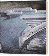 1957 Oldsmobile Hood Ornament Wood Print