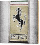 1959 Ferrari 250 Gt Emblem Wood Print