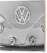 1959 Volkswagen Vw Panel Delivery Van Emblem Wood Print