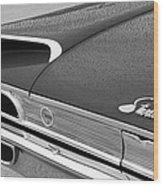 1960 Ford Galaxie Starliner Taillight Emblem Wood Print by Jill Reger