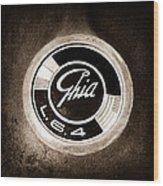 1962 Ghia L6.4 Coupe Emblem Wood Print