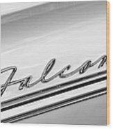 1963 Ford Falcon Futura Convertible   Emblem Wood Print