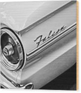 1963 Ford Falcon Futura Convertible Taillight Emblem Wood Print