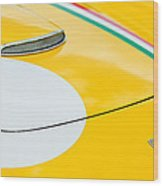 1964 Ferrari 250 Gt Lusso Hood Emblem Wood Print