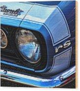 1967 Chevy Camaro Rs Wood Print