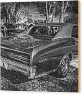 1967 Pontiac Gto Bw Wood Print