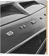1968 Shelby Gt350 Hood Emblem Wood Print