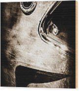 1969 Ford Mustang Boss 429 Sportsroof Side Emblem Wood Print