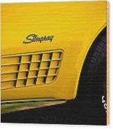 1971 Chevrolet Corvette Stingray Wood Print