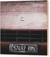 1972 Ferrari 365 Gtb-4a Grille Emblem Wood Print