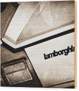 1982 Lamborghini Countach 5000s Taillight Emblem Wood Print