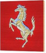 1999 Ferrari 550 Maranello Stallion Emblem Wood Print