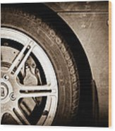 2005 Lotus Elise Wheel Emblem Wood Print