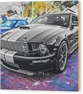 2007 Ford Mustang Shelby Gt Painted  Wood Print