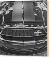 2008 Ford Shelby Mustang Gt500 Kr Painted Bw  Wood Print