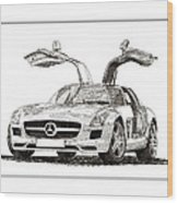 Gull Wing Mercedes Benz S L S Gull-wing Wood Print