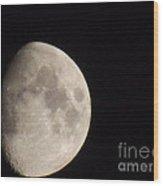 3/4 Moon Wood Print