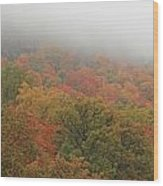 A Foggy Autumn Day At The United States Military Academy At West Wood Print