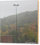 A Foggy Autumn Day At The United States Military Academy Wood Print