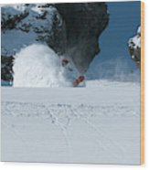 A Male Snowboarder Makes A Series Wood Print