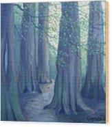 A Morning Stroll Wood Print by Glenda Barrett